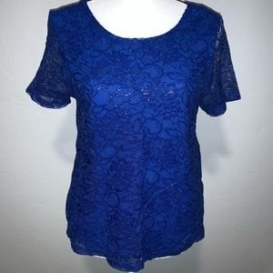 H & M Blue Lace Shirt
